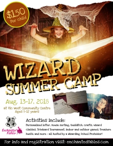 Enchanted Fables Wizard School Camp 2018