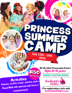 Enchanted Fables Princess Summer Camp 2019